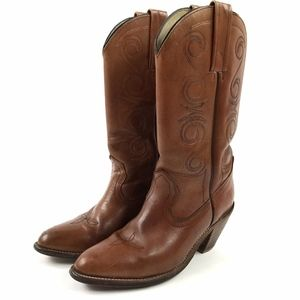 FRYE Pull On Cowboy Western Boots 8.5 USA
